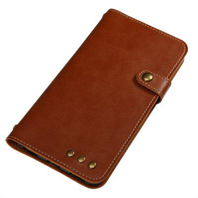 Buy BROWN Wkae Crazy Horse Texture Retro PU Leather Case with Wallet Card Slots for HUAWEI Y6 ll for $6.51 in GearBest store