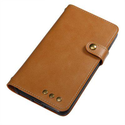 Buy YELLOW Wkae Crazy Horse Texture Retro PU Leather Case with Wallet Card Slots for HUAWEI Y6 PRO for $8.41 in GearBest store