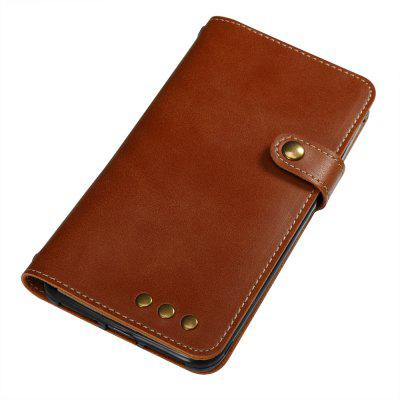 Buy BROWN Wkae Crazy Horse Texture Retro PU Leather Case with Wallet Card Slots for HUAWEI Y6 PRO for $8.41 in GearBest store