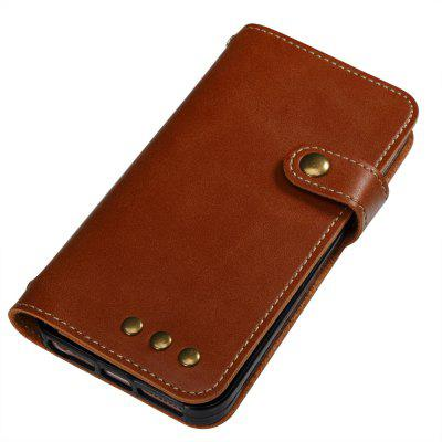 Wkae Crazy Horse Texture Retro PU Leather Case with Wallet Card Slots for iPhone 5s/SE