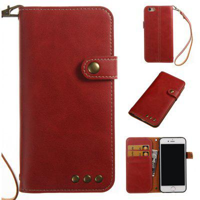 Wkae Crazy Horse Texture Retro PU Leather Case with Wallet Card Slots for iPhone 6/6s