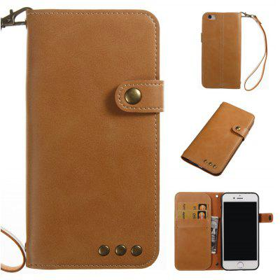 Buy YELLOW Wkae Crazy Horse Texture Retro PU Leather Case with Wallet Card Slots for iPhone 6/6s for $8.44 in GearBest store
