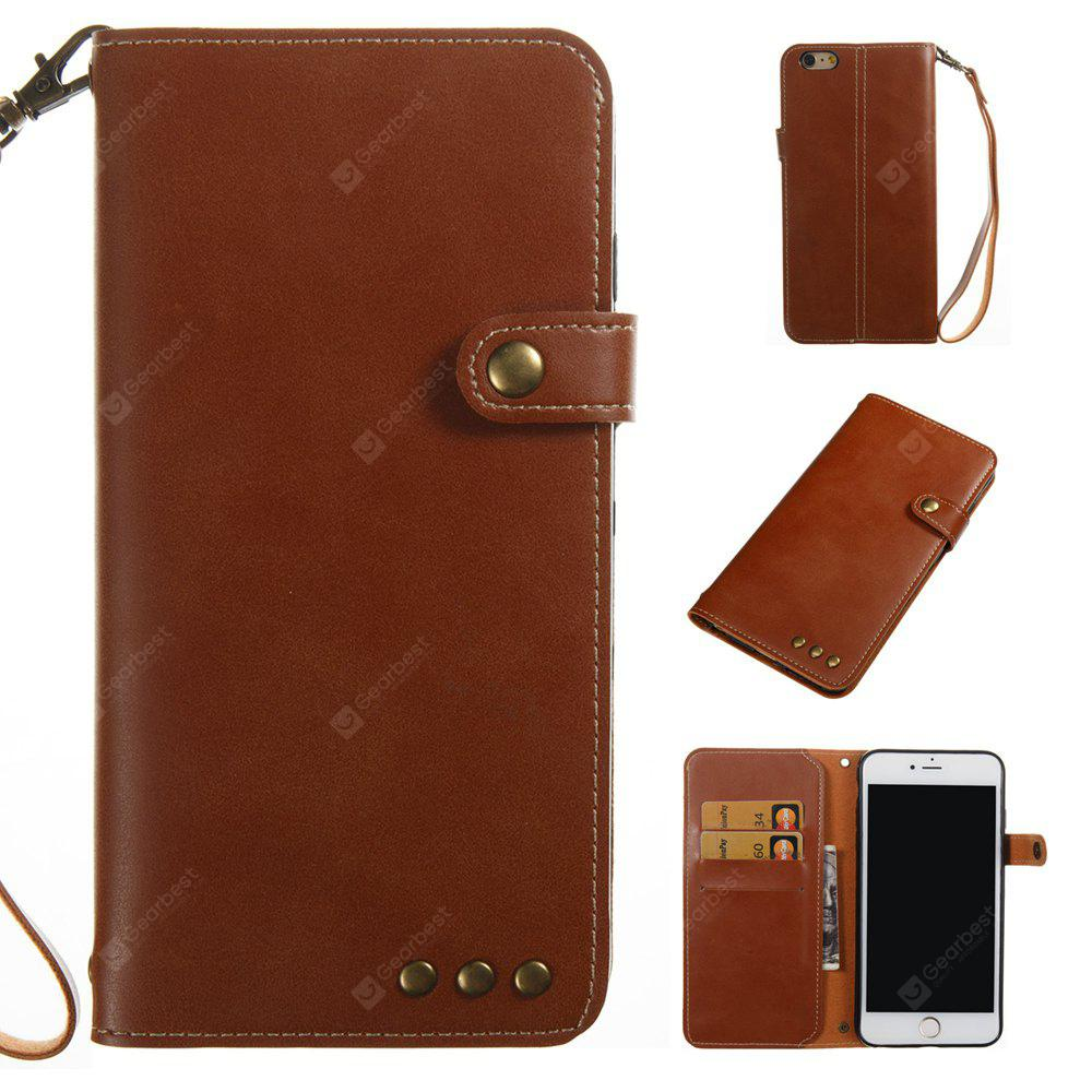 BROWN Wkae Crazy Horse Texture Retro PU Leather Case with Wallet Card Slots for iPhone 6 Plus/6s Plus