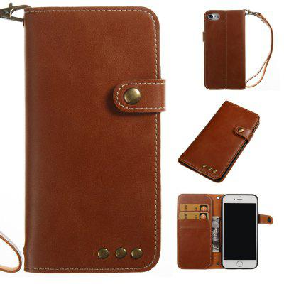 Buy BROWN Wkae Crazy Horse Texture Retro PU Leather Case with Wallet Card Slots for iPhone 7 for $8.44 in GearBest store