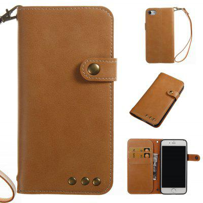 Buy YELLOW Wkae Crazy Horse Texture Retro PU Leather Case with Wallet Card Slots for iPhone 7 for $8.44 in GearBest store