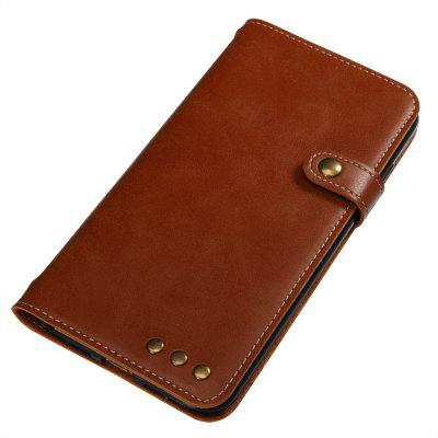 Buy BROWN Wkae Crazy Horse Texture Retro PU Leather Case with Wallet Card Slots for iPhone 7 Plus for $8.72 in GearBest store