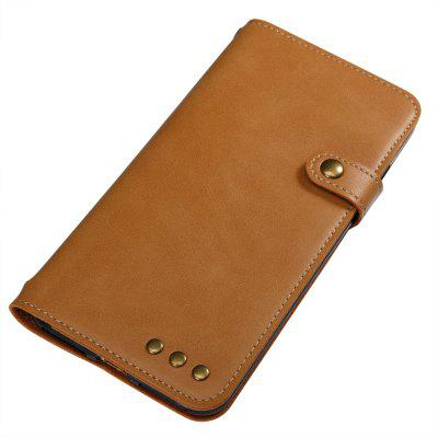 Buy YELLOW Wkae Crazy Horse Texture Retro PU Leather Case with Wallet Card Slots for iPhone 7 Plus for $8.72 in GearBest store