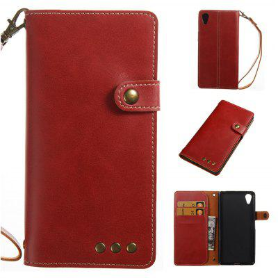 Buy RED Wkae Crazy Horse Texture Retro PU Leather Case with Wallet Card Slots for Sony Xperia X for $8.41 in GearBest store
