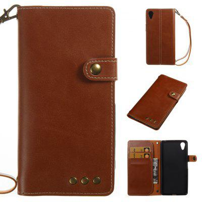 Buy BROWN Wkae Crazy Horse Texture Retro PU Leather Case with Wallet Card Slots for Sony Xperia X for $8.41 in GearBest store