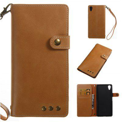 Buy YELLOW Wkae Crazy Horse Texture Retro PU Leather Case with Wallet Card Slots for Sony Xperia X for $8.41 in GearBest store
