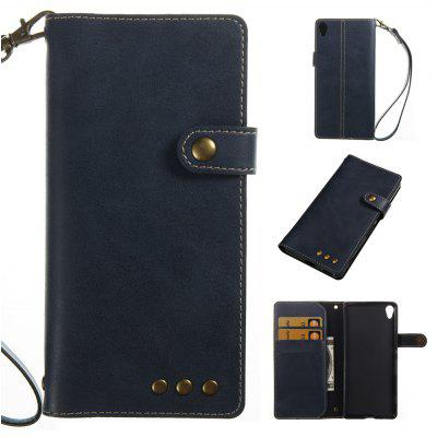 Buy BLUE Wkae Crazy Horse Texture Retro PU Leather Case with Wallet Card Slots for Sony Xperia XA for $8.41 in GearBest store