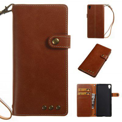 Buy BROWN Wkae Crazy Horse Texture Retro PU Leather Case with Wallet Card Slots for Sony Xperia XA for $8.41 in GearBest store