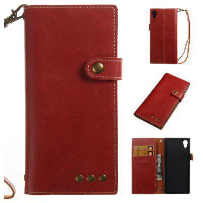 Buy RED Wkae Crazy Horse Texture Retro PU Leather Case with Wallet Card Slots for Sony Xperia XA 2017 for $8.41 in GearBest store