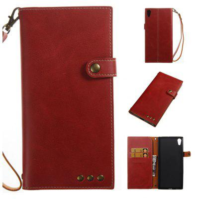 Buy RED Wkae Crazy Horse Texture Retro PU Leather Case with Wallet Card Slots for Sony Xperia XA ULTRA for $8.41 in GearBest store