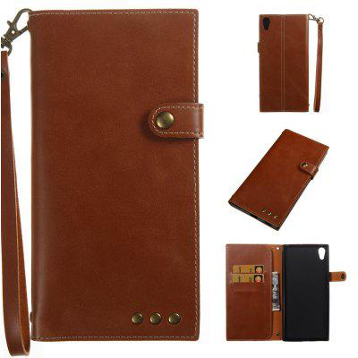 Buy BROWN Wkae Crazy Horse Texture Retro PU Leather Case with Wallet Card Slots for Sony Xperia XA ULTRA for $8.41 in GearBest store