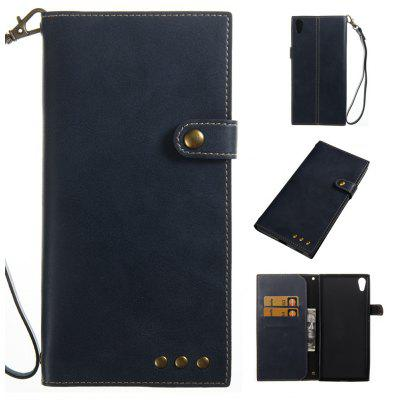 Buy BLUE Wkae Crazy Horse Texture Retro PU Leather Case with Wallet Card Slots for Sony Xperia XR/XZ for $8.41 in GearBest store