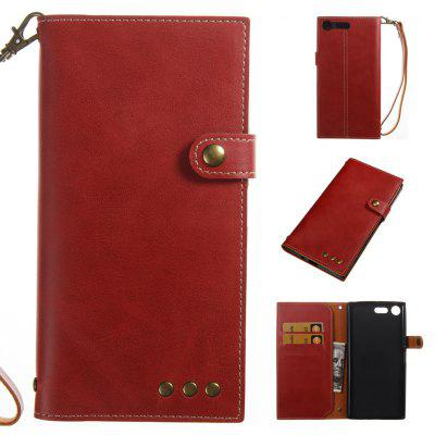 Buy RED Wkae Crazy Horse Texture Retro PU Leather Case with Wallet Card Slots for Sony Xperia XZ PREMIUN for $8.41 in GearBest store