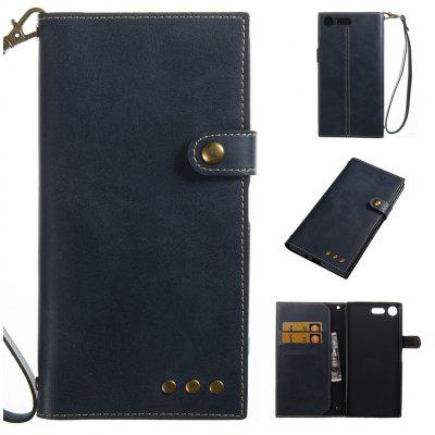 Buy BLUE Wkae Crazy Horse Texture Retro PU Leather Case with Wallet Card Slots for Sony Xperia XZ PREMIUN for $8.41 in GearBest store