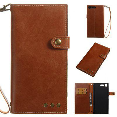Buy BROWN Wkae Crazy Horse Texture Retro PU Leather Case with Wallet Card Slots for Sony Xperia XZ PREMIUN for $8.41 in GearBest store