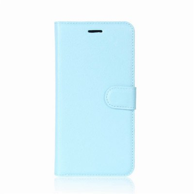 Solid Color Litchi Pattern Wallet Style Front Buckle Flip PU Leather Case with Card Slots for Meizu Pro 7 Plus wkae forest series colorful paiting litchi texture premium pu leather horizontal flip stand wallet case cover with card slots for iphone 7 plus and 8 plus