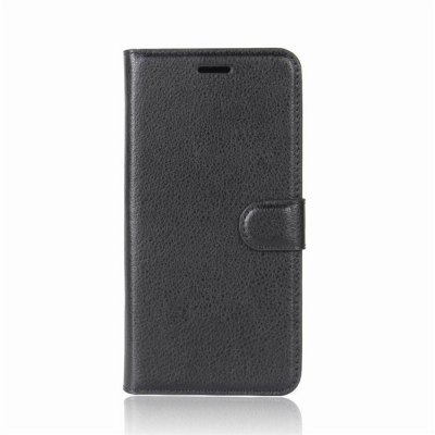 Solid Color Litchi Pattern Wallet Style Front Buckle Flip PU Leather Case with Card Slots for LG V30