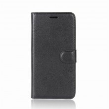 Solid Color Litchi Pattern Wallet Style Front Buckle Flip PU Leather Case with Card Slots for Samsung Galaxy Note 8