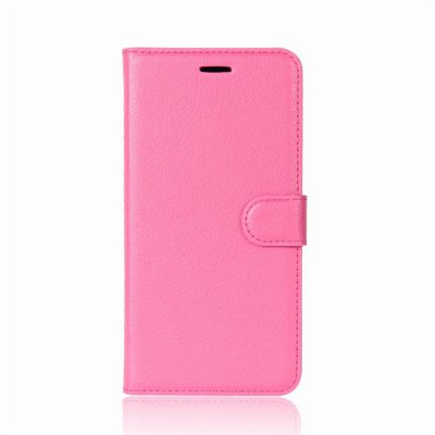 Solid Color Litchi Pattern Wallet Style Front Buckle Flip PU Leather Case with Card Slots for Samsung Galaxy J7 Max SM - G615F wkae forest series colorful paiting litchi texture premium pu leather horizontal flip stand wallet case cover with card slots for iphone 7 plus and 8 plus
