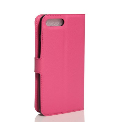 Solid Color Litchi Pattern Wallet Style Front Buckle Flip PU Leather Case with Card Slots for iPhone 7 Plus wkae forest series colorful paiting litchi texture premium pu leather horizontal flip stand wallet case cover with card slots for iphone 7 plus and 8 plus