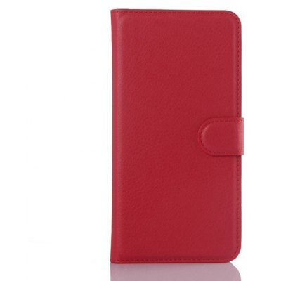 Solid Color Litchi Pattern Wallet Style Front Buckle Flip PU Leather Case with Card Slots for Samsung Galaxy S6 Edge Plu