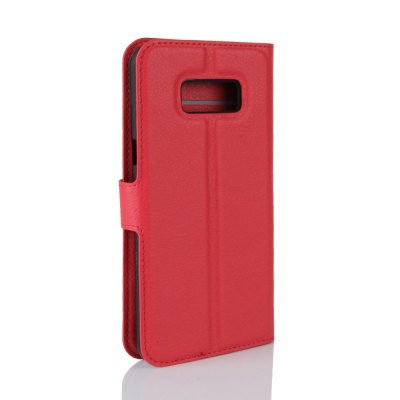 Solid Color Litchi Pattern Wallet Style Front Buckle Flip PU Leather Case with Card Slots for Samsung Galaxy S8Samsung S Series<br>Solid Color Litchi Pattern Wallet Style Front Buckle Flip PU Leather Case with Card Slots for Samsung Galaxy S8<br><br>Features: With Credit Card Holder<br>Material: PU Leather<br>Package Contents: 1 x Litchi Pattern Faux Leather Case<br>Package size (L x W x H): 15.00 x 18.00 x 5.00 cm / 5.91 x 7.09 x 1.97 inches<br>Package weight: 0.1100 kg<br>Product weight: 0.0300 kg<br>Style: Solid Color
