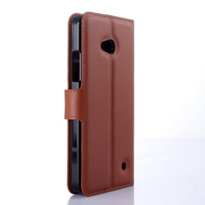 Solid Color Litchi Pattern Wallet Style Front Buckle Flip PU Leather Case with Card Slots for Nokia Lumia 640Cases &amp; Leather<br>Solid Color Litchi Pattern Wallet Style Front Buckle Flip PU Leather Case with Card Slots for Nokia Lumia 640<br><br>Package Contents: 1 x Litchi Pattern Faux Leather Case<br>Package size (L x W x H): 15.00 x 18.00 x 5.00 cm / 5.91 x 7.09 x 1.97 inches<br>Package weight: 0.1100 kg<br>Product weight: 0.0300 kg