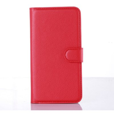 Solid Color Litchi Pattern Wallet Style Front Buckle Flip PU Leather Case with Card Slots for LG Ray