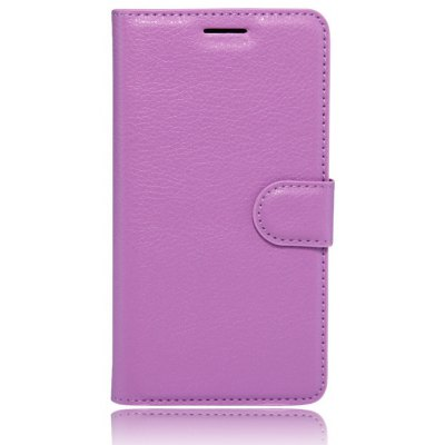 Solid Color Litchi Pattern Wallet Style Front Buckle Flip PU Leather Case with Card Slots for Samsung Galaxy A5 2017