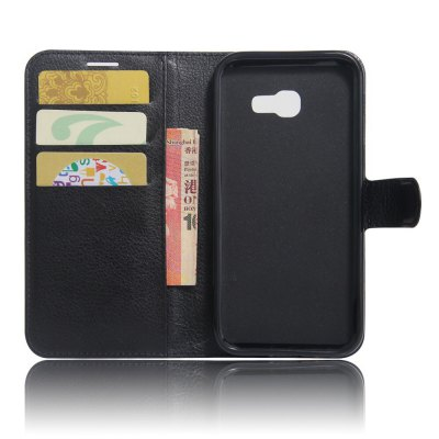 Solid Color Litchi Pattern Wallet Style Front Buckle Flip PU Leather Case with Card Slots for Samsung Galaxy A5 2017Samsung A Series<br>Solid Color Litchi Pattern Wallet Style Front Buckle Flip PU Leather Case with Card Slots for Samsung Galaxy A5 2017<br><br>Features: With Credit Card Holder<br>Material: PU Leather<br>Package Contents: 1 x Litchi Pattern Faux Leather Case<br>Package size (L x W x H): 15.00 x 18.00 x 5.00 cm / 5.91 x 7.09 x 1.97 inches<br>Package weight: 0.1000 kg<br>Product weight: 0.0300 kg<br>Style: Solid Color