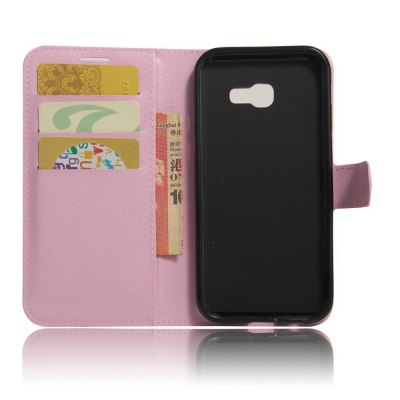 Solid Color Litchi Pattern Wallet Style Front Buckle Flip PU Leather Case with Card Slots for Samsung Galaxy A5 2017Samsung A Series<br>Solid Color Litchi Pattern Wallet Style Front Buckle Flip PU Leather Case with Card Slots for Samsung Galaxy A5 2017<br><br>Features: With Credit Card Holder<br>Material: PU Leather<br>Package Contents: 1 x Litchi Pattern Faux Leather Case<br>Style: Solid Color