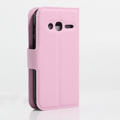 Solid Color Litchi Pattern Wallet Style Front Buckle Flip PU Leather Case with Card Slots for Alcatel Pixi 4 4.0 inchCases &amp; Leather<br>Solid Color Litchi Pattern Wallet Style Front Buckle Flip PU Leather Case with Card Slots for Alcatel Pixi 4 4.0 inch<br><br>Package Contents: 1 x Litchi Pattern Faux Leather Case<br>Package size (L x W x H): 15.00 x 18.00 x 5.00 cm / 5.91 x 7.09 x 1.97 inches<br>Package weight: 0.1100 kg<br>Product weight: 0.0300 kg