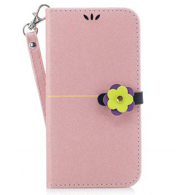 Elegant Style Flower Buckle Flip PU Leather Case for Samsung Galaxy S5