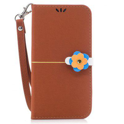 Elegant Style Flower Buckle Flip PU Leather Case for Samsung Galaxy S7 Edge
