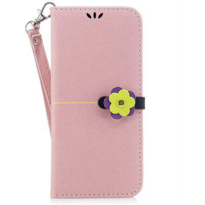 Elegant Style Flower Buckle Flip PU Leather Case for Samsung Galaxy S8