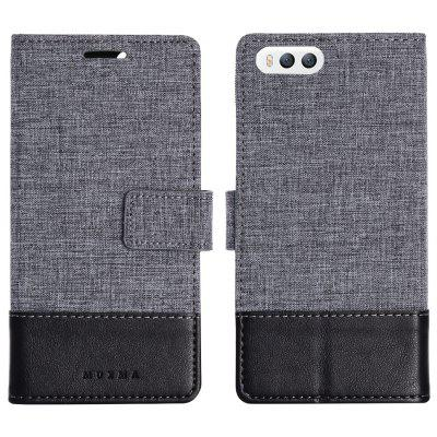 Durable Canvas Design Flip PU Leather Wallet Case for Xiaomi Mi6