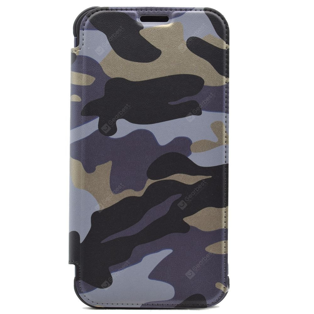 Outdoor Style Camouflage Design Flip PU Leather Case for Samsung Galaxy S7