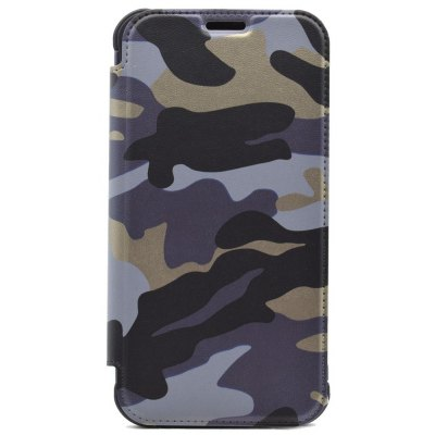 Outdoor Style Camouflage Design Flip PU Leather Case for Samsung Galaxy S7 Edge