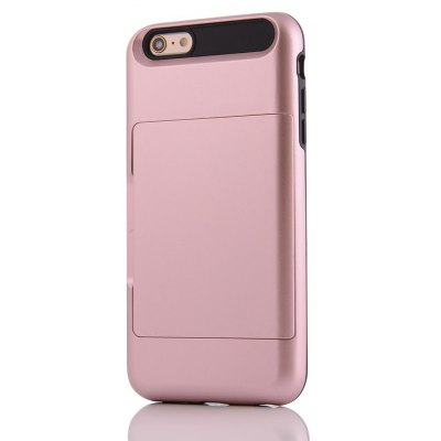 Solid Color Shockproof Back Case with Card Slot for iPhone 6S