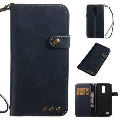 Buy DEEP BLUE Retro Style Crazy Horse Pattern Magnetic Buckle Flip PU Leather Wallet Case for LG K8 2017 Europe Edition for $7.13 in GearBest store