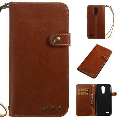 Buy BROWN Retro Style Crazy Horse Pattern Magnetic Buckle Flip PU Leather Wallet Case for LG K8 2017 Europe Edition for $7.13 in GearBest store