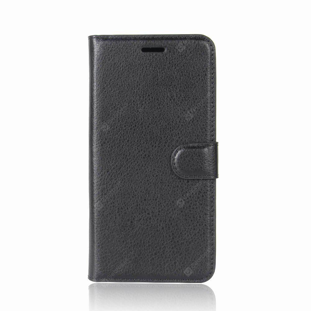 Solid Color Litchi Pattern Wallet Style Front Buckle Flip PU Leather Case with Card Slots for Xiaomi 5X