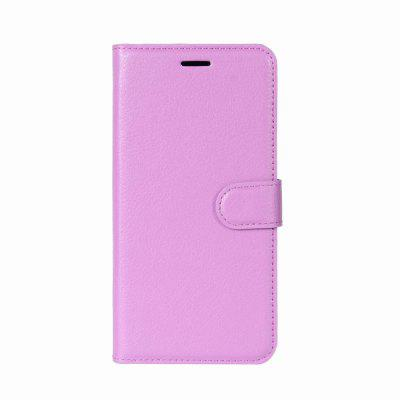 Buy PURPLE Solid Color Litchi Pattern Wallet Style Front Buckle Flip PU Leather Case with Card Slots for Huawei Y6 Pro for $4.96 in GearBest store