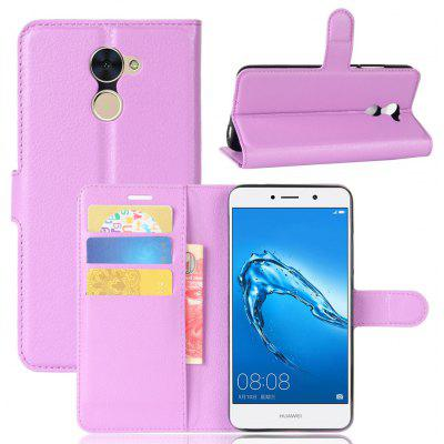 Buy PURPLE Solid Color Litchi Pattern Wallet Style Front Buckle Flip PU Leather Case with Card Slots for Huawei Enjoy 7 Plus for $5.65 in GearBest store