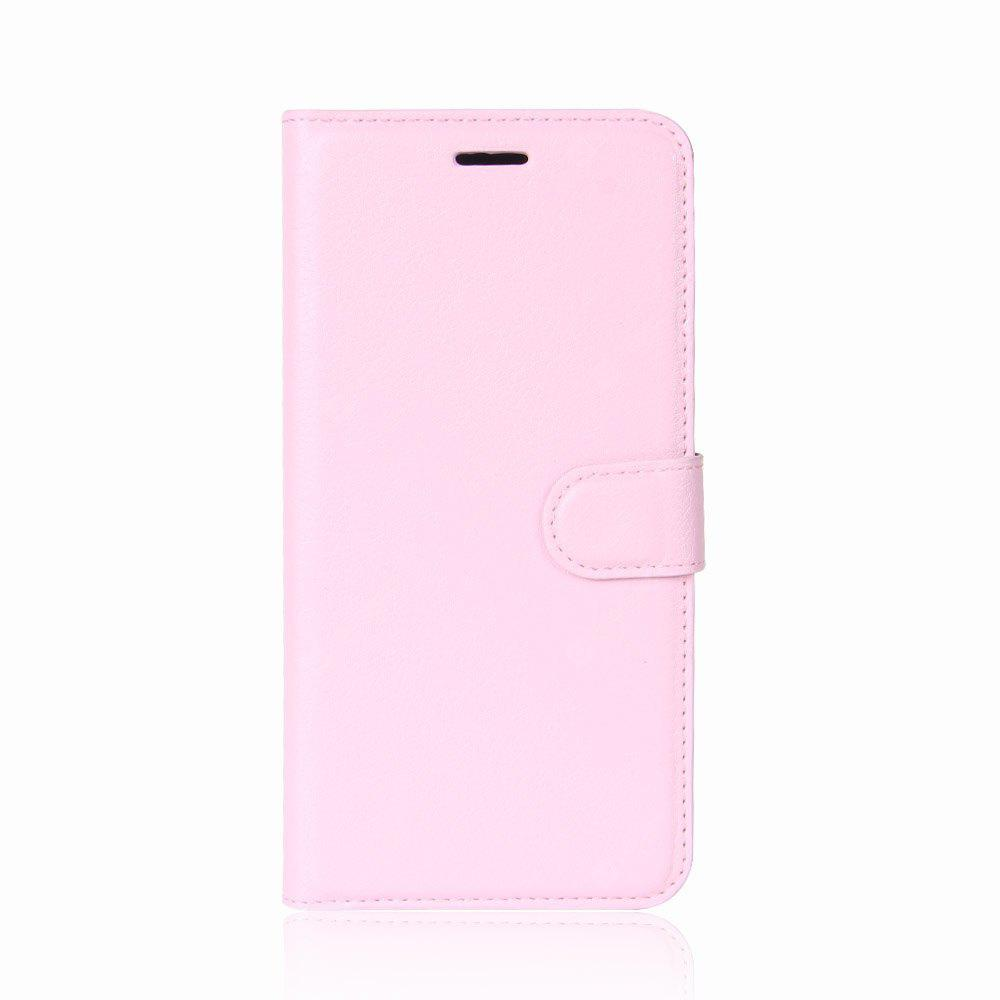 Solid Color Litchi Pattern Wallet Style Front Buckle Flip PU Leather Case with Card Slots for Samsung Galaxy J7 2017 (Asia/Europe Edition)