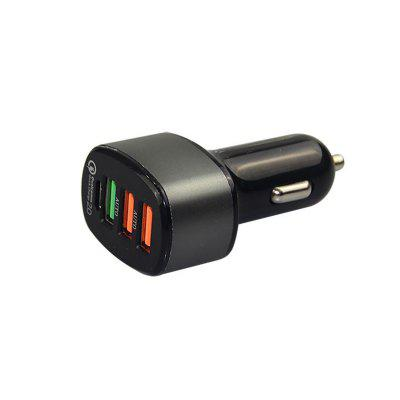 QC3.0 Port Cell Phone USB Car Charger with Type CCar Charger<br>QC3.0 Port Cell Phone USB Car Charger with Type C<br><br>Apply to: MP4,MP3,Ipad Mini,iPhone 5/5S,Laptop Computers,Phones,Digital Cameras,Other AC and USB Appliances,iPhone 4/4s/iPod/iPad 2/The Nwe iPad,Samsung Phones,iPhone 4/4s/iPod/iPad 2/The New iPad<br>Apply To Car Brand: Acura,Aston Martin,Audi,Bentley,BMW,Bugatti,Buick,Cadillac,Chevrolet,Chrysler,Citroen,Daewoo,Dodge,Ferrari,Ford,GMC GMC,Honda,Hummer,Hyundai,Infiniti,Jaguar,Jeep,Kia,Lamborghini,Land Rover,Lexus,Linco<br>Color: Black<br>Input ( Car Charger ): 12V<br>Output ( Car Charger ): QC3.0, 5V/3.5A<br>Package Contents: 1 x Car Charger<br>Working Temp.(?): -20-60 Deg.C